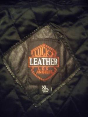 Full length men's leather coat