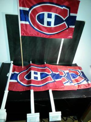 4 NHL Montreal Canadiens Flags