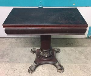 Antique Games Table with Ornate Feet