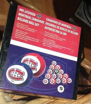 NHL Billiard Ball Set Montreal Canadiens
