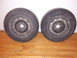 "R"" minivan Snow Tires Pair on 115mm 5 bolt Dodge"