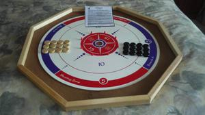 CROKINOLE BOARD GAMES, VINTAGE CHES & CHECKERS TABLE, NUT