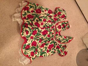 Christmas dress with matching bloomers- size 24 months