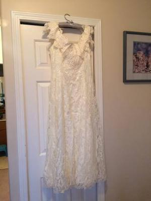 Size 12 champagne coloured wedding dress