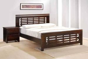 Solid hardwood platform frame, all sizes in stock, single