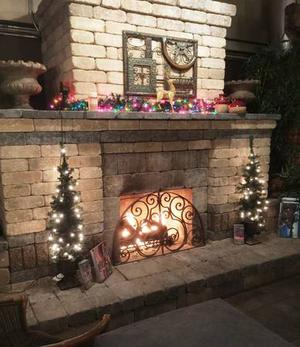 indoor/outdoor gas fireplace burner and fireproof insert