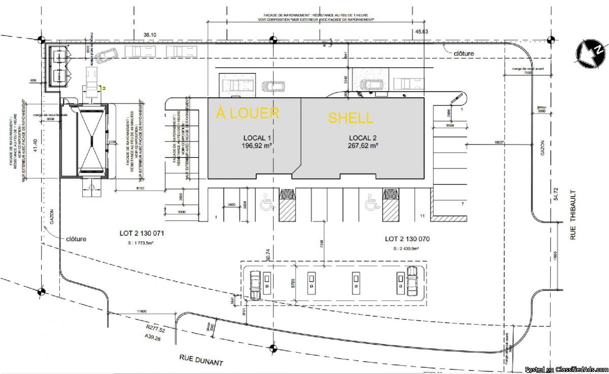 Commercial project with Shell convenience store Sherbrooke