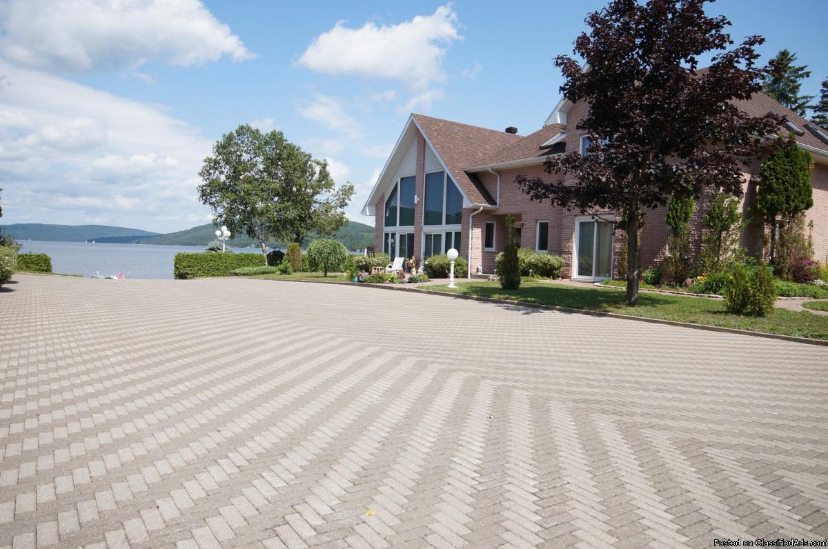 Magnifique maison haut gamme avec plage privée sur le Lac