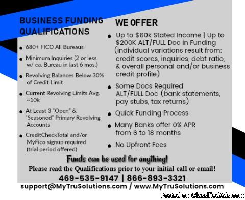 **NEED START-UP FUNDING FOR YOUR BUSINESS??**