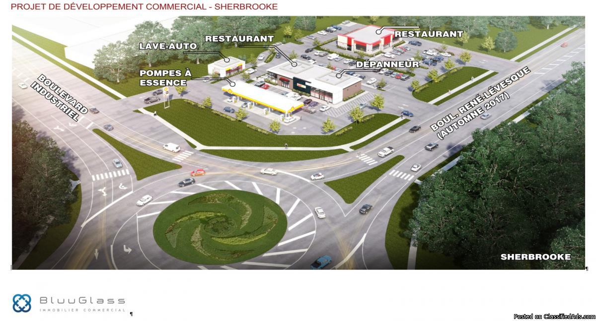 Space for fastfood restaurant with drive-thru Sherbrooke