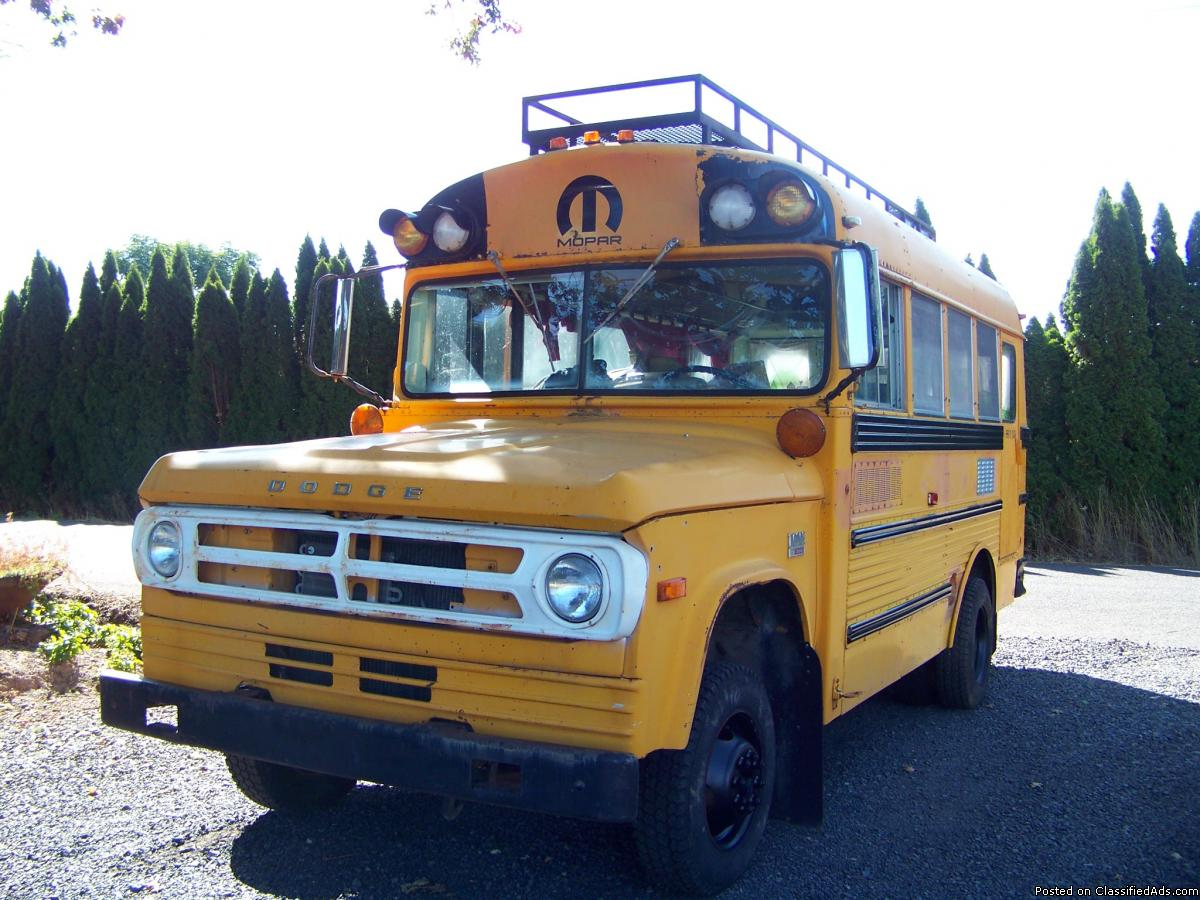 Dodge 1 Ton Short Bus With Roof Rack and Water Tank