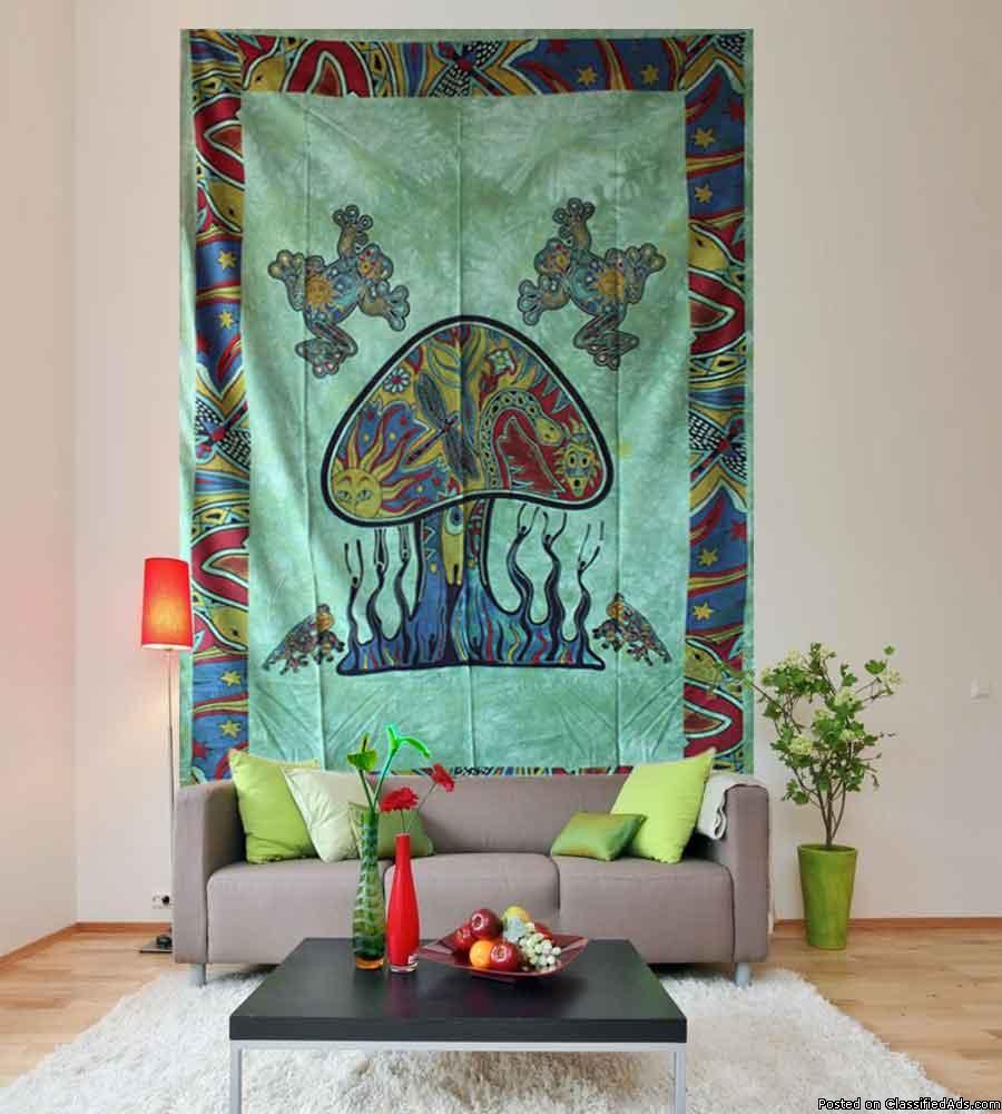 Buy Beautiful Mushroom Wall Hanging Tapestries at
