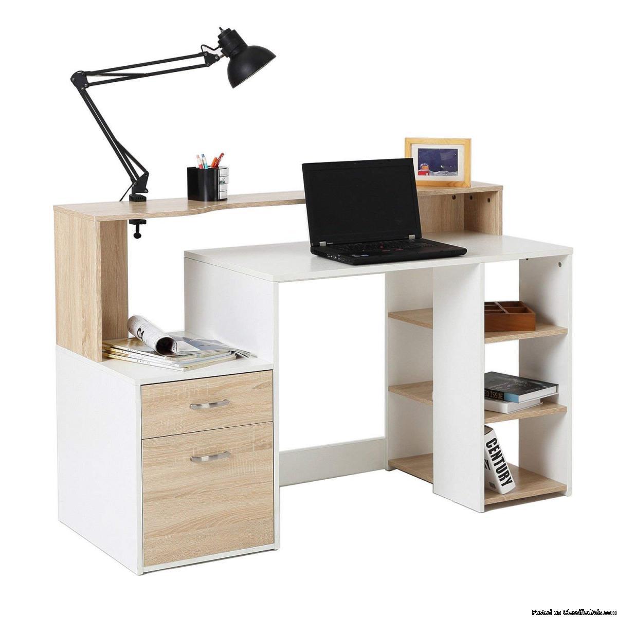 """55"""" Multi-Level Home Office Desk"""
