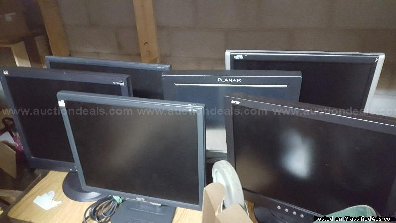 Lot of 30 & more Monitors, TV, Projector Screens New & Used