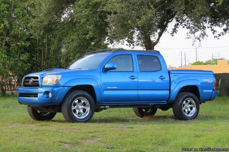 Toyota Tacoma Blue Truck