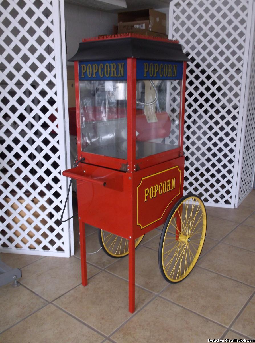 Kettle Pop Corn Maker with Cart