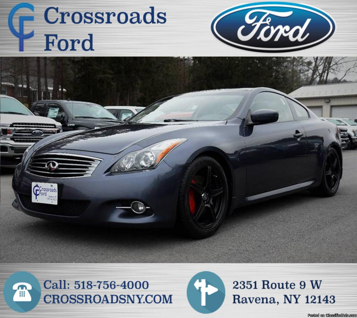 INFINITY G37X COUPE! AWD! ONLY 58K CLEAN MILES! UC