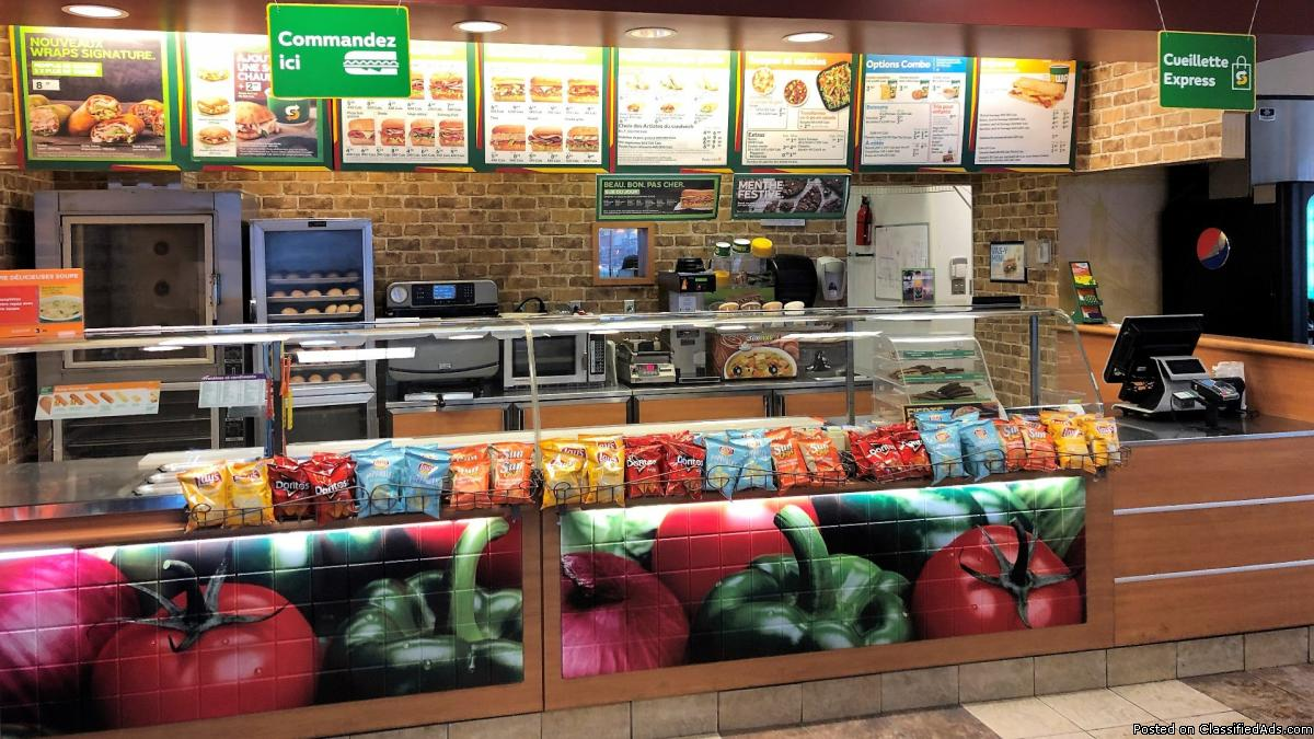 Profit from purchase ! Subway restaurant for sale Montreal
