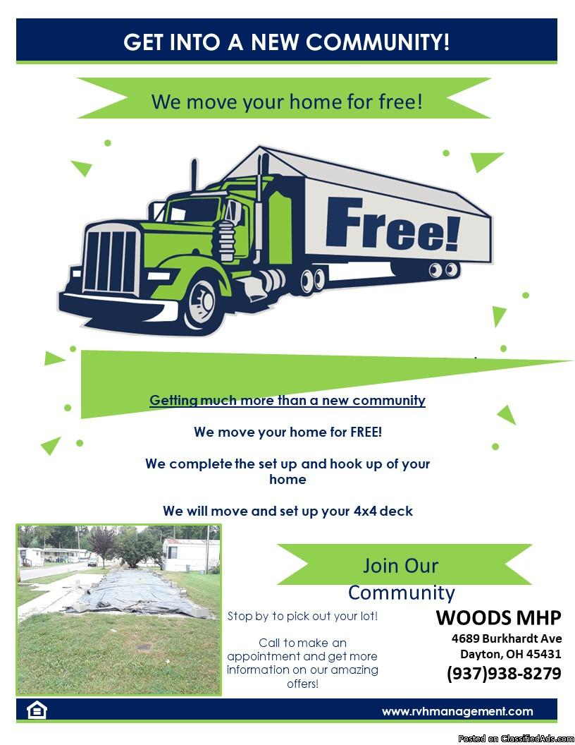 LET US MOVE YOUR HOME FOR FREE!