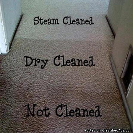Truck mounted carpet steam cleaning service