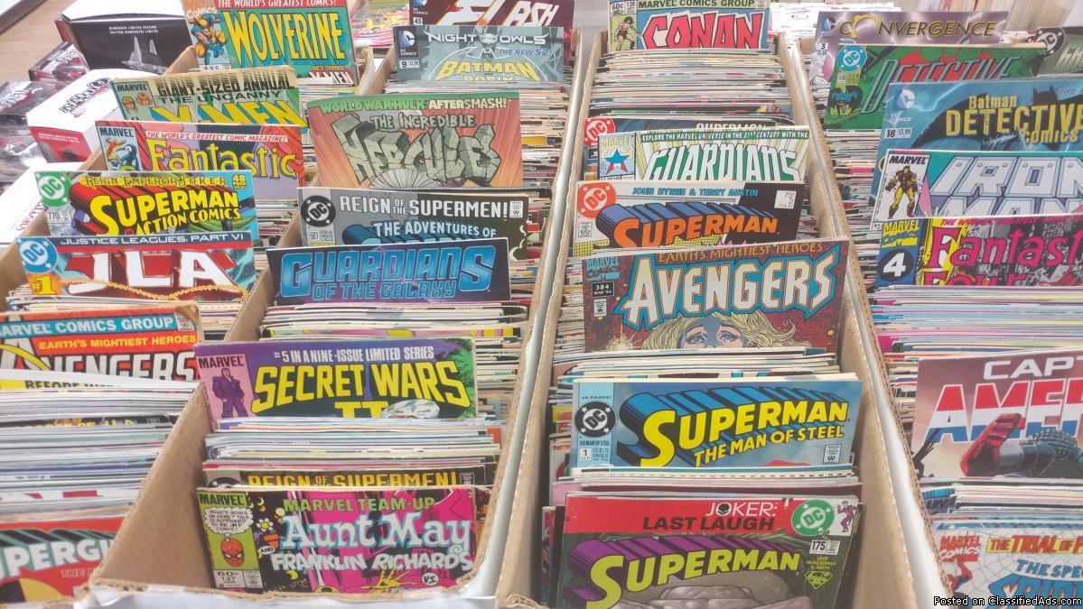 25 longboxes of comic books