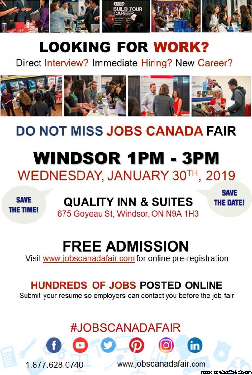 Windsor Job Fair – January 30th,