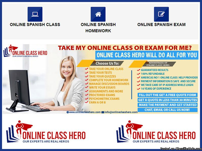 Take My Online Spanish Class For Me | Online Spanish Class