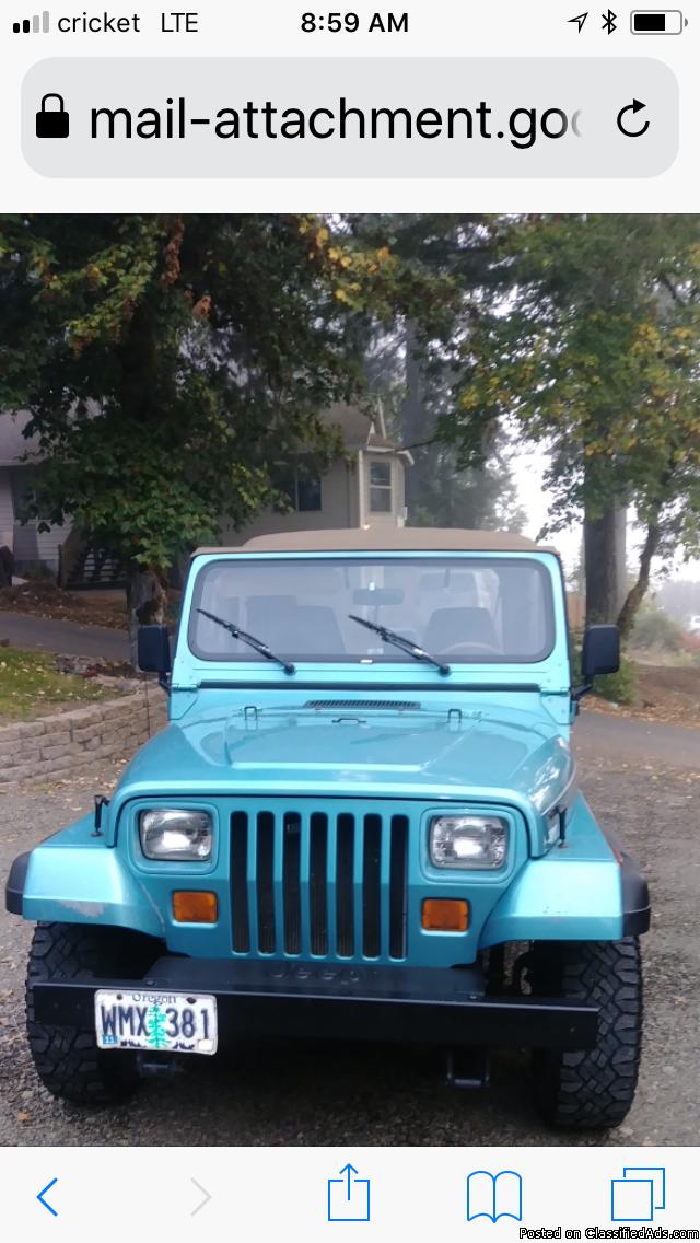 95 Jeep Wrangler Rio Grande
