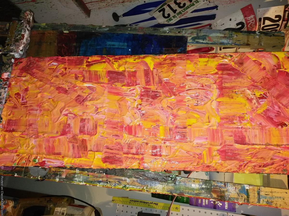 Entire original abstract art collection for sale or