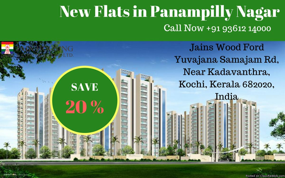 1 BHK 2 BHK 3 BHK Flats for Sale in Panampilly Nagar