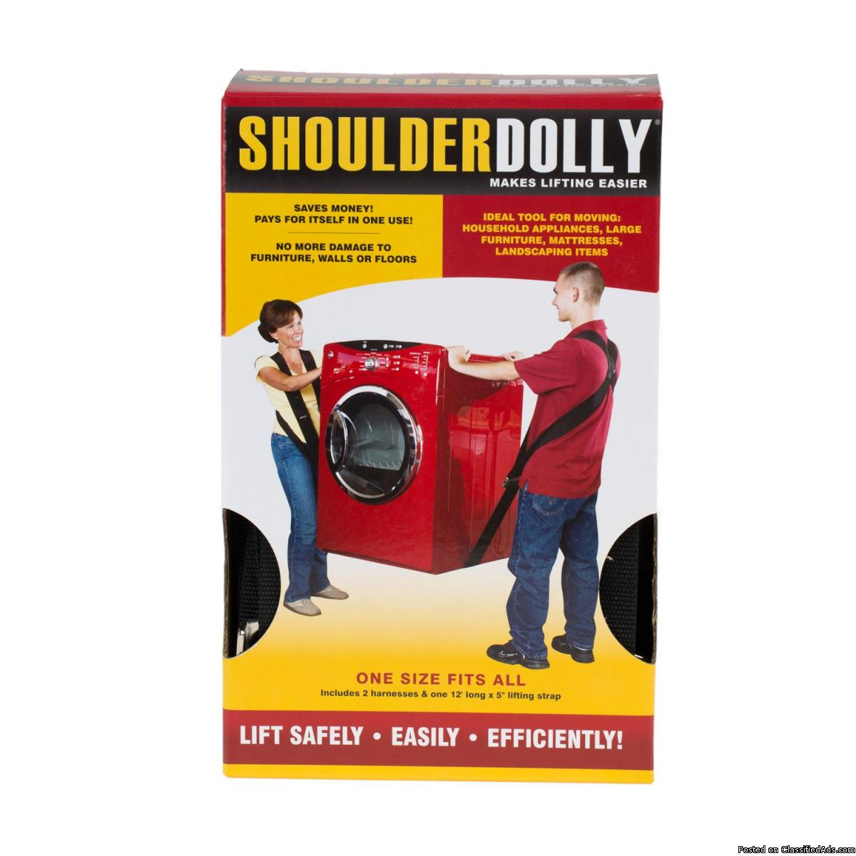 Shoulder Dolly LD-Person Harness System, Free Shipping