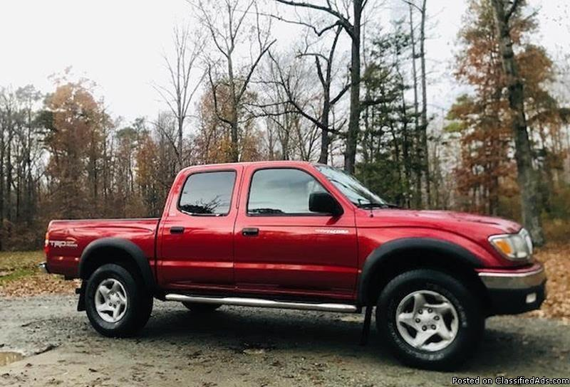 Toyota Tacoma Red Pickup Truck