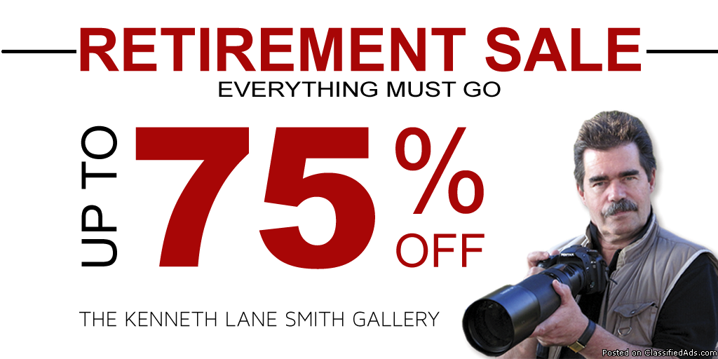 Art Gallery Closing Sale: Save up to 75% Off