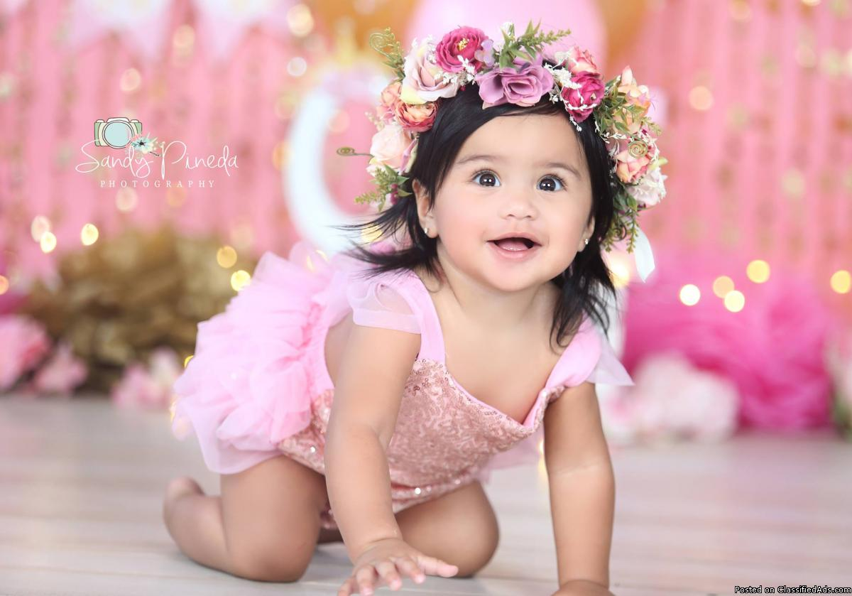 Dress of a flower girl: Ruffles and Bowties Bowtique