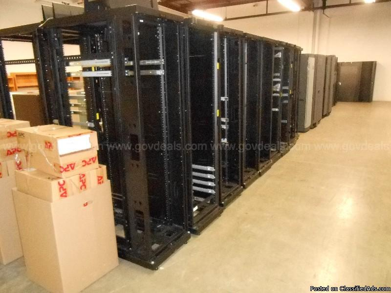 Lot of 43 APC Power Distribution Racks/Server Racks/Battery