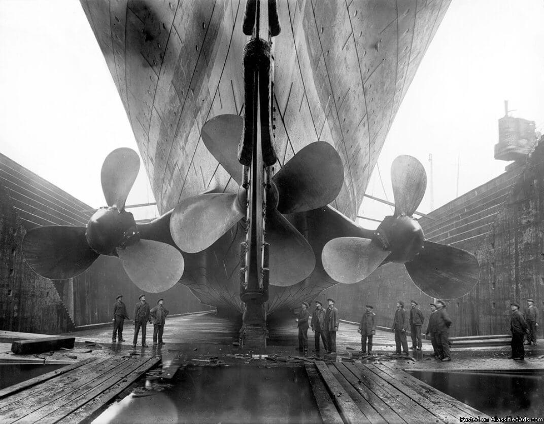 YESTERYEAR: MHS TITANIC PROPELLERS, PHOTO