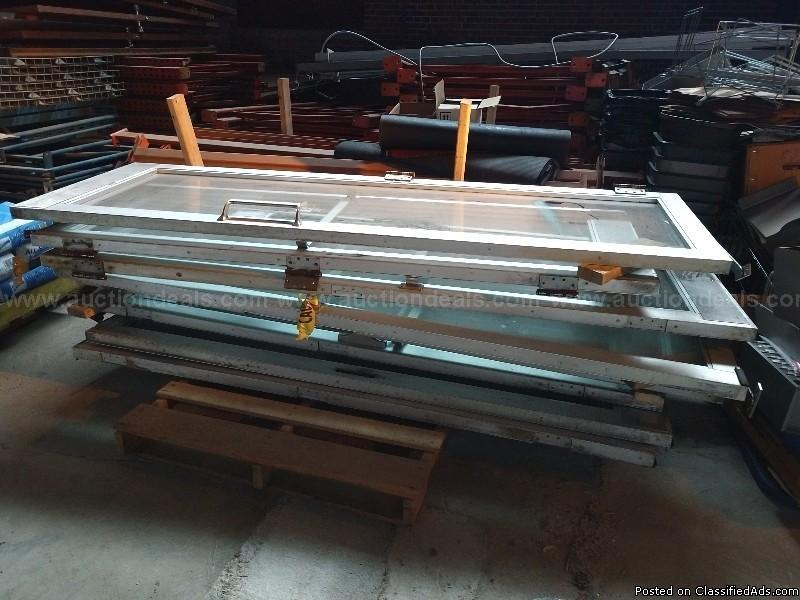 Lot of 8 Aluminum and Glass Doors