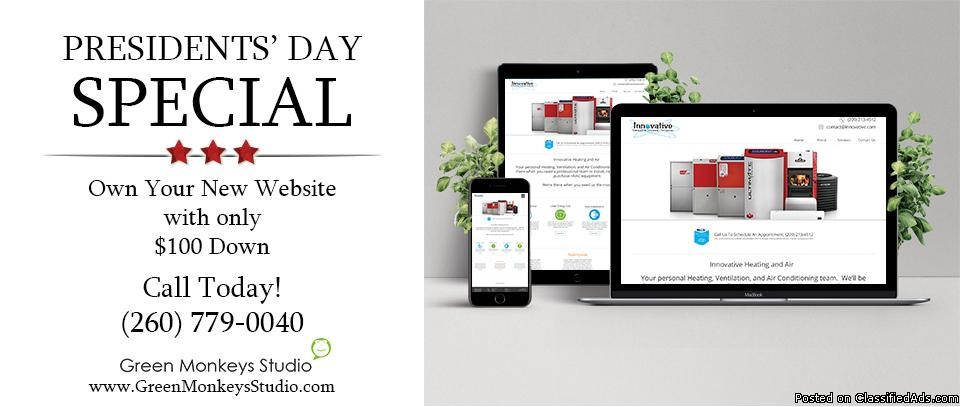 Presidents' Day Special: Get Your Website Today