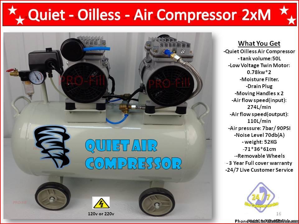 Quiet Oilless Air Compressor 2XM