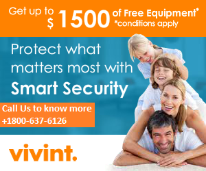 GET A BUMPER DISCOUNT ON VIVINT HOME SECURITY JUST CALL US