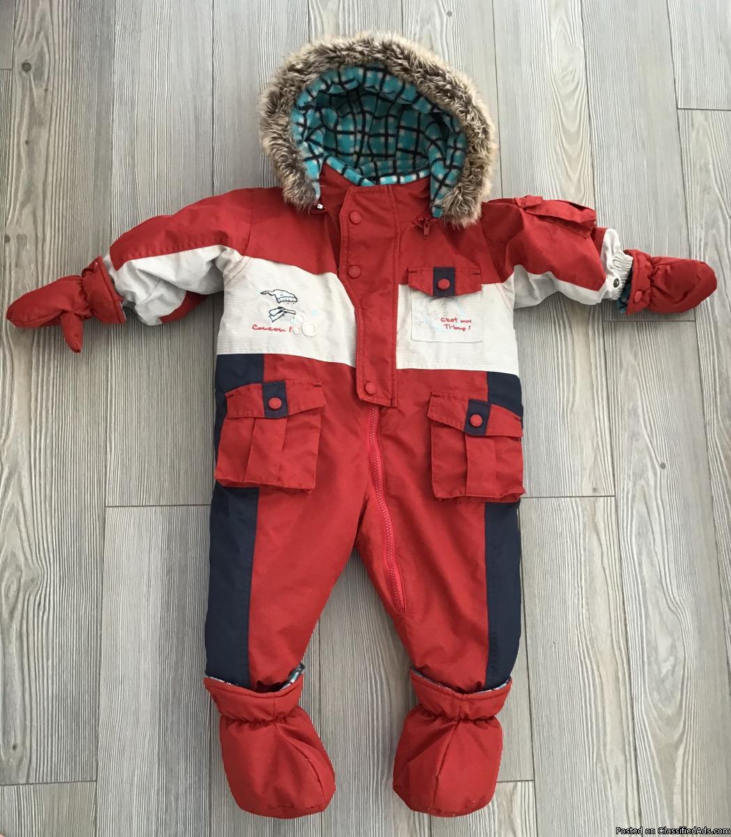 Habit de neige bébé garçon 6-12 mois Winter suit for baby