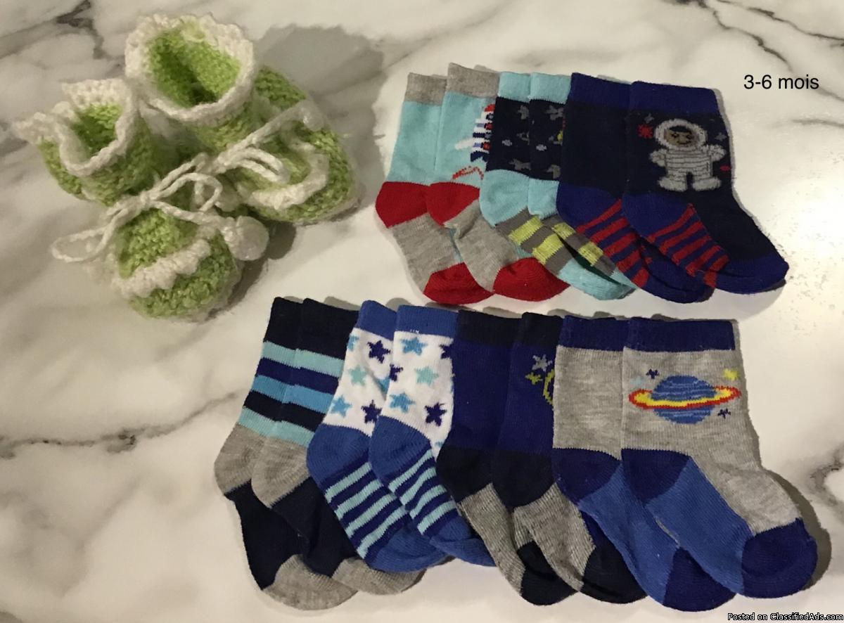 Des bas, des souliers et des gants pour bébé garçon 0-6