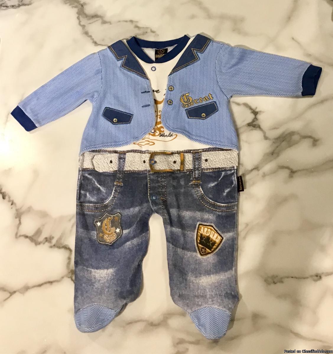 Pyjama de coton très élégant pour bébé garçon 3-6