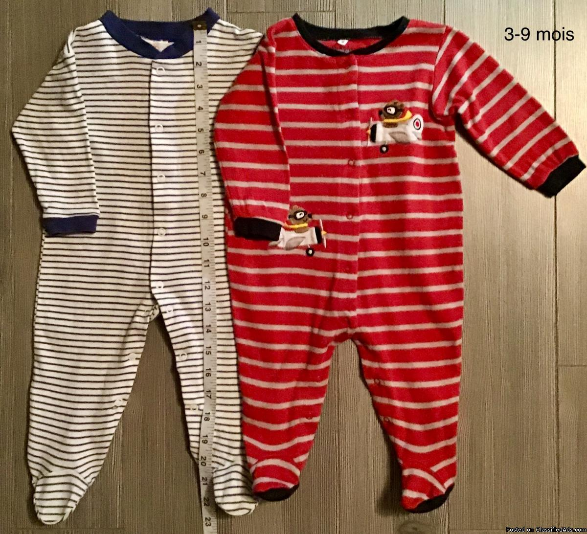 Pyjamas pour bébé garçon 3-9 mois /Pajamas for baby boy