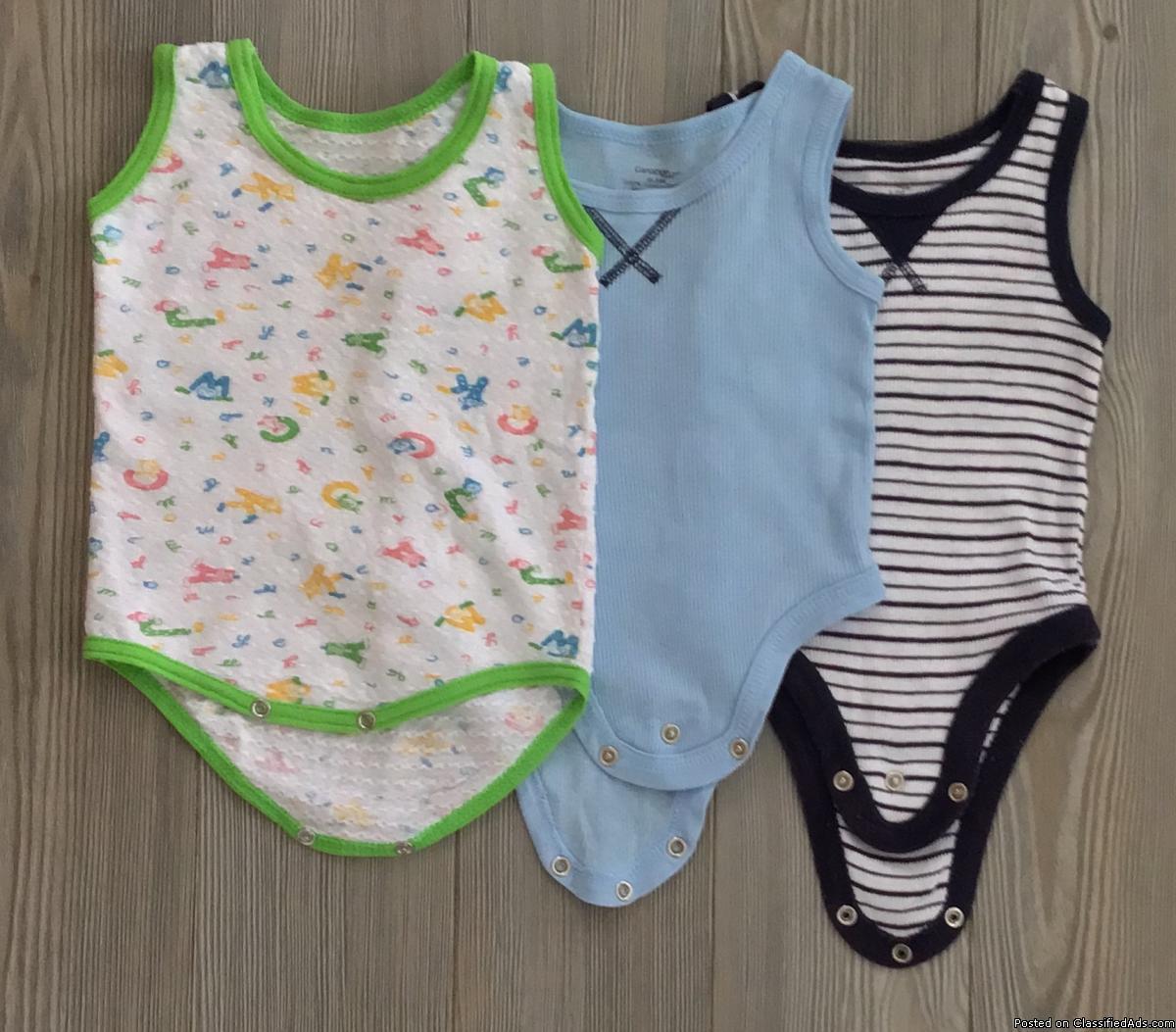 T shirts. Caches-couches. Bébé garçon 6-12 mois /t