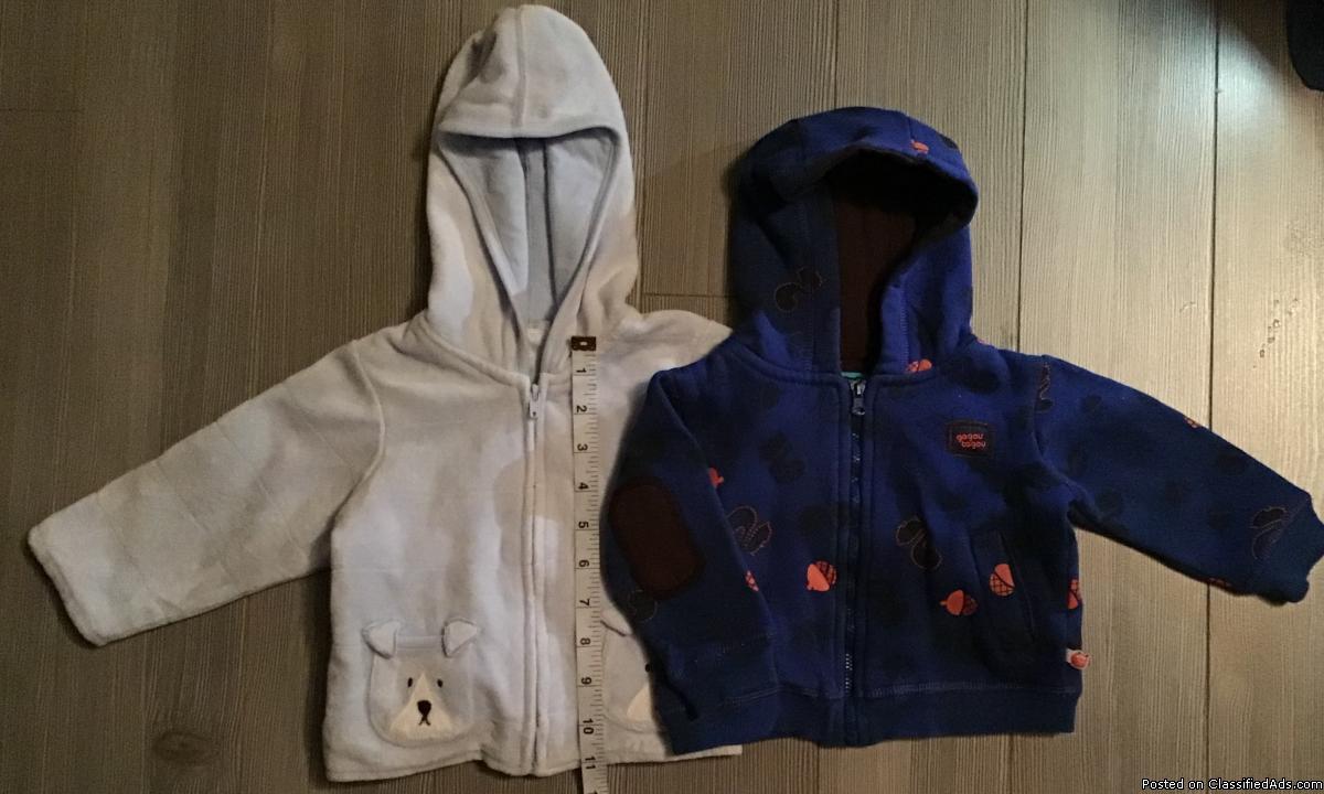 Vestes pour bébé garçon 6-12 mois / Jackets for baby boy