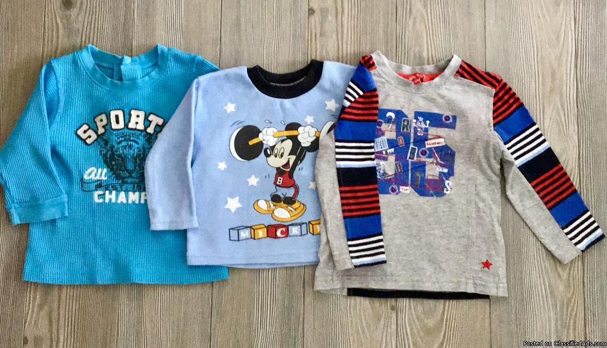 Vêtements bébé garçon 6-12 mois. T-shirt manches
