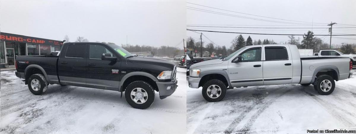 Dodge Ram MegaCab 4x4 and  Dodge  HD Ram TRX4