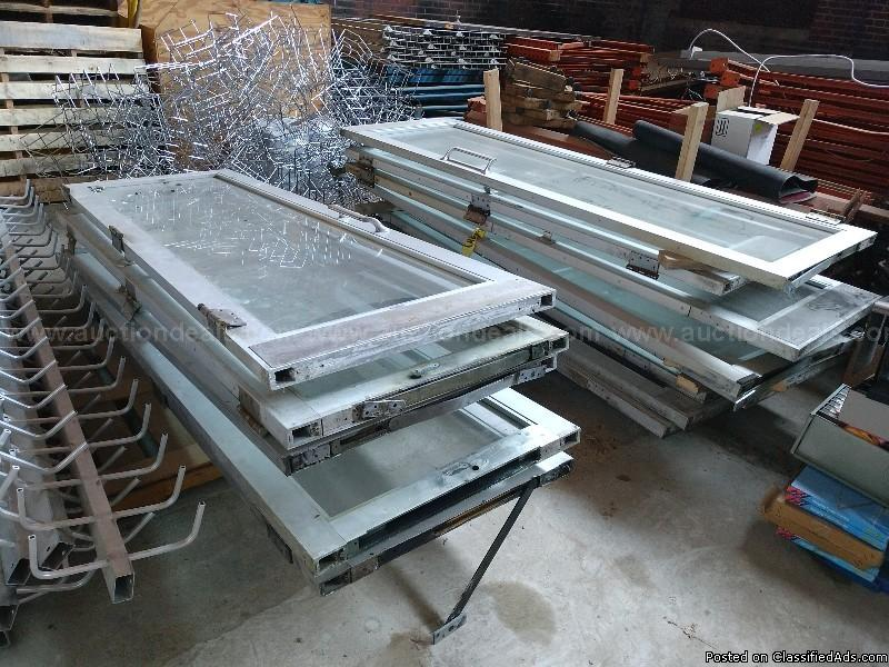 Lot of 13 Aluminum and Glass Doors