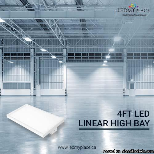 4ft LED Linear High Bay Most Stunning Way to Illuminate Your